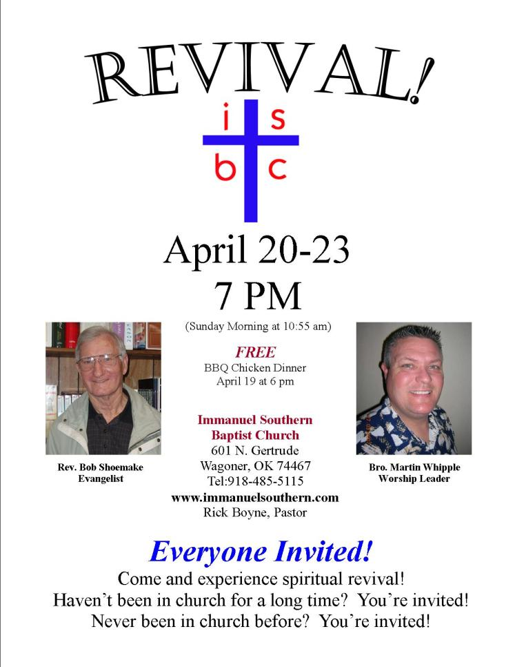 Revival at Immanuel Southern, April 20-23, 2008