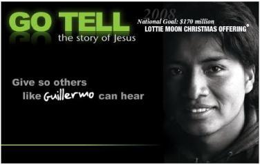 Lottie Moon Christmas Offering.2008 Lottie Moon Offering Goal Announced Immanuel Southern